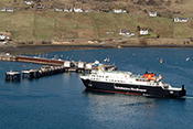 Ferry arriving at Uig Isle of Skye